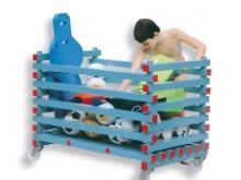 All-In Sport: Verrolbare uitvoering, met 4 edelstalen nylon zwenkwielen. Ideaal voor de snelle en doelmatige opberging van zwem- en sportmaterialen voo...