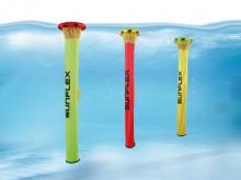 """All-In Sport: Hét nieuwe en revolutionaire water- en duikspel. Het biedt verschillende water- en duikspellen. De tubes kunnen ook voor slalom en als """"d..."""