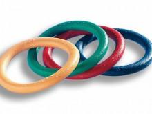 All-In Sport: 200 gram, van vol-kunststof, 16 cm doorsnede, kleuren assorti.