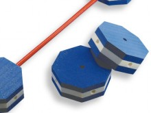 All-In Sport: 8-hoekige drijver van vast schuimstof met gaten voor kunststof stokken (W7554) Attentie: alleen in vlak water onder toezicht van volwasse...