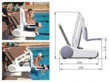 All-In Sport: Mobiele zwembadlift R36 voor barrièrevrije en mobiele toepassing bij en in het zwembad. De mobiele zwembadlift R36 biedt barrièrevrijheid...