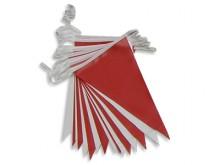 All-In Sport: Met neutrale vlaggen, 4 vlaggetjes per meter, van zacht plastic. Er kunnen meerdere lijnen aan elkaar gekoppeld worden om het totale zwem...