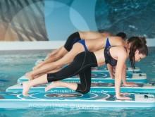 All-In Sport: <p>Aquaphysical - de nieuwe trendsport op het water. Aqua Fitness, Aqua Yoga, Aqua Pilates en veel meer, de oppompbare mat maakt een effe...