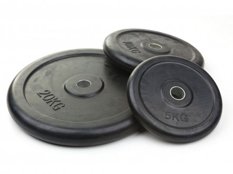 Halterschijven van gietijzer met rubber coating boring Ø 30,5 mm