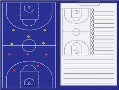 Coachmap magnetisch + Clip Basketbal