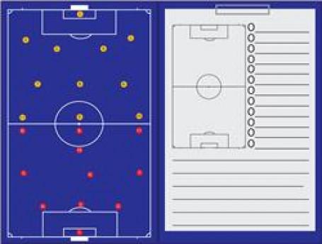 Coachmap magnetisch + Clip Voetbal