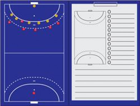Coachmap magnetisch + Clip Handbal