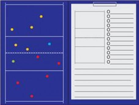 Coachmap magnetisch + Clip Volleybal