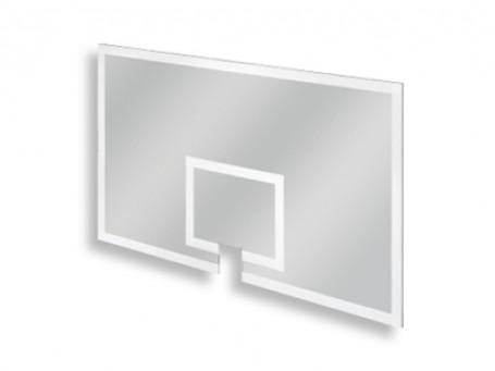 Basketbalbord Acryl 120 x 90 cm met ringuitsparing.