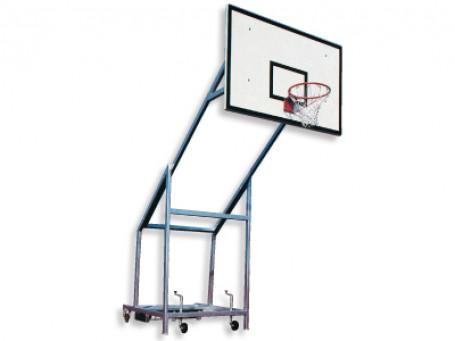 Basketbalmast verrolbaar staal