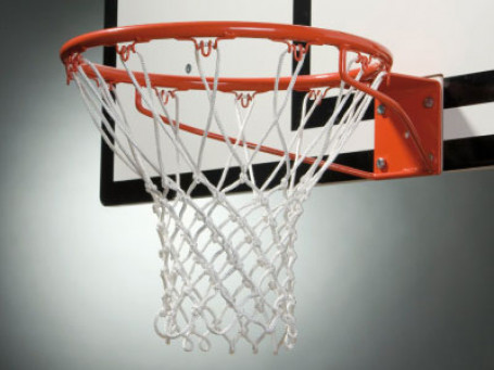 Basketbalnet 6 mm, wit excl. ring