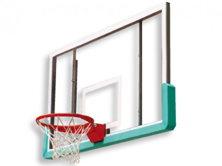 Basketbalbord Acryl 10 mm 180 x 105 cm met ringuitsparing