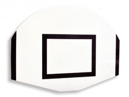 Basketbalbord waaiervorm 120 x 90 cm wit/zwart