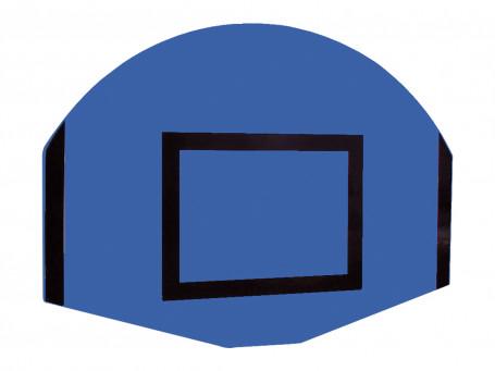 Basketbalbord waaiervorm 120 x 90 cm blauw/zwart