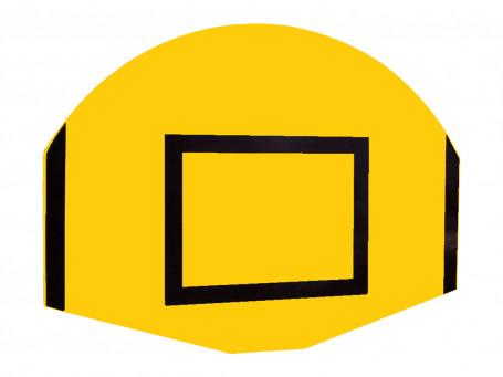 Basketbalbord waaiervorm 120 x 90 cm geel/zwart