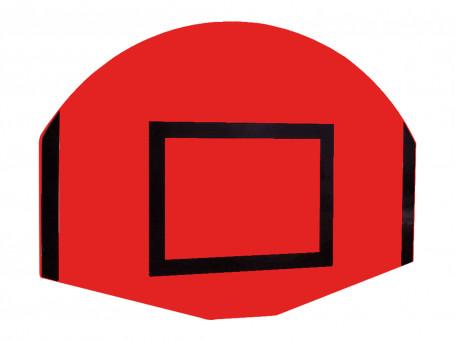 Basketbalbord waaiervorm 120 x 90 cm rood/zwart