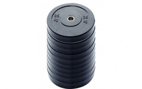 10-pack 20 kg Ol. Bumper Plates zwart