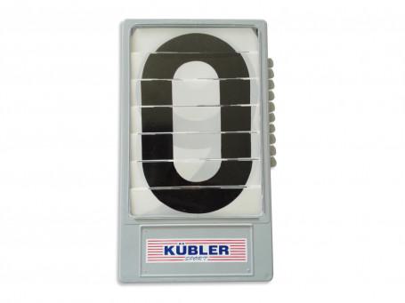 Scorebord cijfercassette zwart