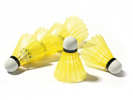 Badmintonshuttles SCHOOL geel