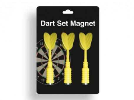 Dartpijlen magnetisch set van 3 stuks, geel
