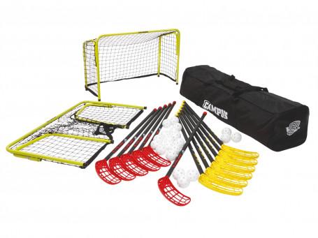 Floorball complete-set Salming® C50 incl. 20 ballen, tas en doelen