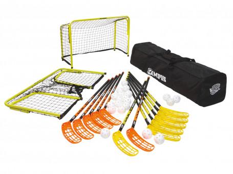 Floorball complete-set Salming® C36 incl. 20 ballen, tas en doelen