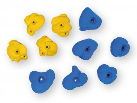 Klimgrepenset Rockstone 10 stuks, blauw