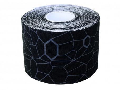 Kinesiologie tape Thera-Band XactStretch, 5 m x 5 cm, zwart/grijs