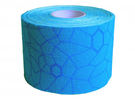 Kinesiologie tape Thera-Band XactStretch, 5 m x 5 cm, blauw/blauw