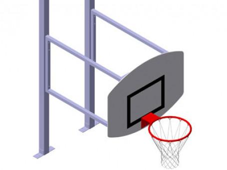 Basketbal-opzetstuk compleet
