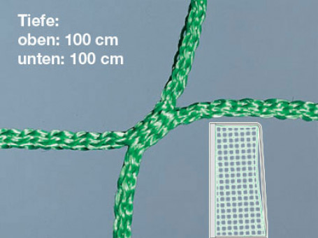 Jeugdvoetbaldoelnetten PP 4 mm groen