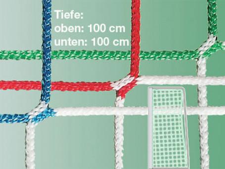 Jeugdvoetbaldoelnetten PP 4 mm groen/wit