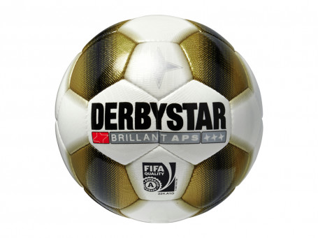 Voetbal Derbystar® BRILLANT APS GOLD mt. 5 wit/goud