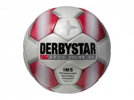 Voetbal Derbystar® APUS TT mt. 5 wit/rood