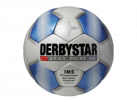 Voetbal Derbystar® APUS TT mt. 5 wit/blauw