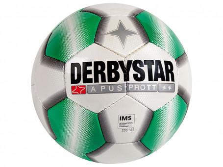 Voetbal Derbystar® APUS TT mt. 5 wit/groen