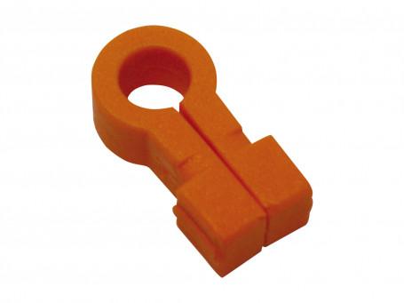 Nethaken kunststof oranje set van 10 stuks