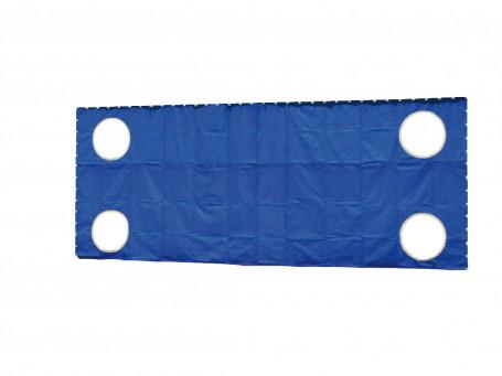 Doelwanddoek 7,32 x 2,44 meter met 4 gaten blauw