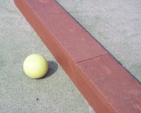 Hockeybalk indoor/outdoor kunststof 200 cm