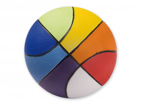 Basketbal PU-foam Ø 20 cm, 290 gram Rainbow