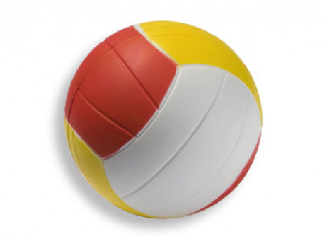 Volleybal PU-foam Ø 20 cm, 290 gram geel/rood/wit