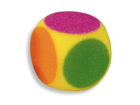 Dobbelstenen foam 6-kleuren