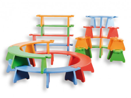 Puzzelbankjes - stapelbare set -