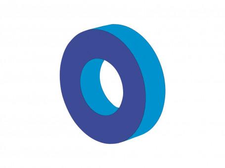 Wiel Ø 120 x 30 cm, binnen Ø 60 cm