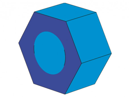Zeshoek-wiel 60 x 30 x 60 cm, binnen Ø 30 cm