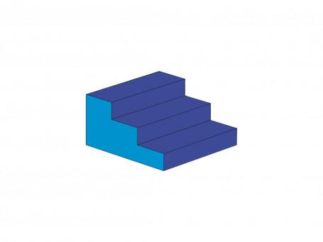 Trap 3-treden 60 x 60 x 30 cm