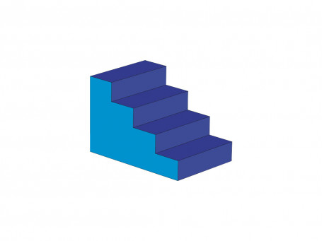 Trap 4-treden 90 x 60 x 60 cm