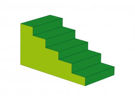 Trap 5-treden 120 x 60 x 60 cm
