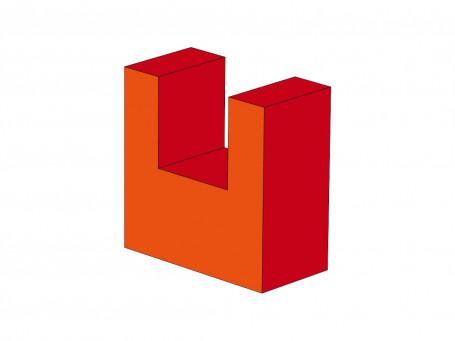 U-element 60 x 30 x 60 cm