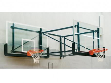 Basketbal-wandinstallatie overhang 170 cm zwenk- en in hoogte verstelbaar